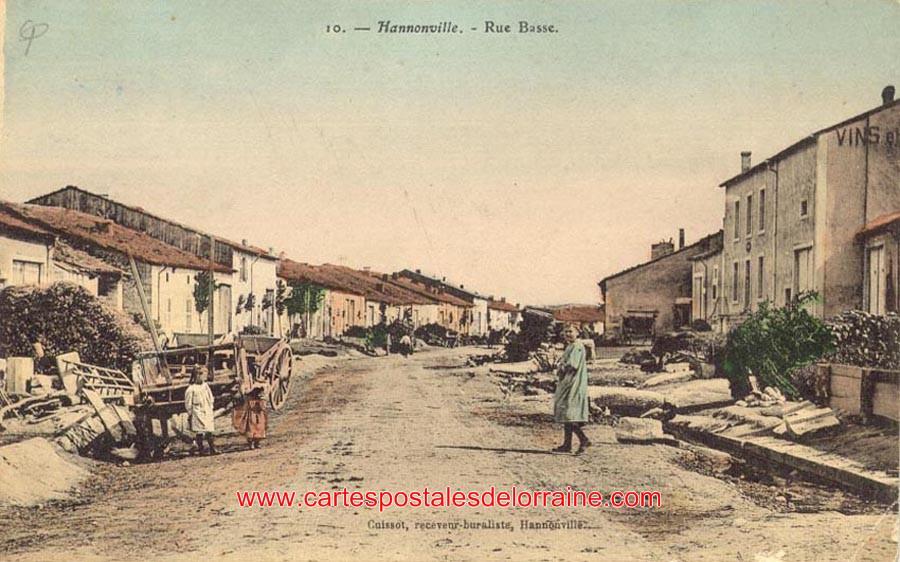 cartes postales anciennes de lorraine hannonville sous les c tes 55210 les rues. Black Bedroom Furniture Sets. Home Design Ideas