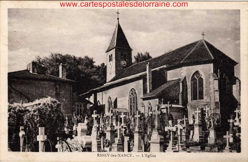 cartes postales anciennes de lorraine essey l s nancy 54270 l 39 glise. Black Bedroom Furniture Sets. Home Design Ideas
